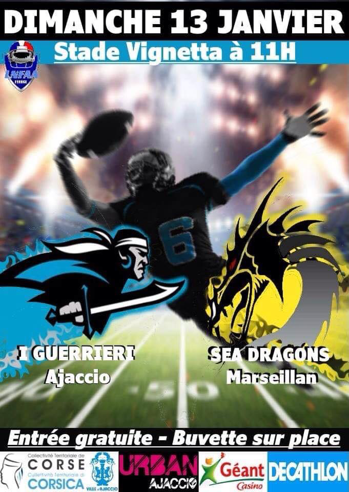 I GUERRIERI D'AIACCIU vs SEA DRAGONS
